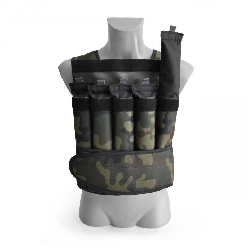 Kamizelka treningowa regulowana 10 kg kolor Moro